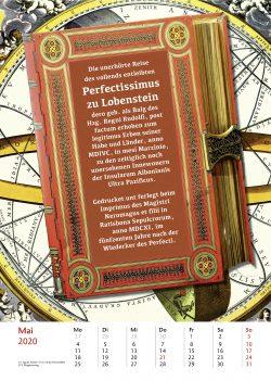 Maiblatt des Kalenders Bibliothek der vermisten Bücher