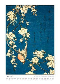 """Aprilblatt zum Kalender """"DIe Eleganz der Vögel in historischen japanischen Holzschnitten"""""""