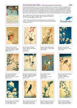 """Indexseite zum Kalender """"DIe Eleganz der Vögel in historischen japanischen Holzschnitten"""""""