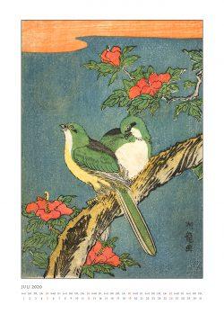 """Juniblatt zum Kalender """"DIe Eleganz der Vögel in historischen japanischen Holzschnitten"""""""