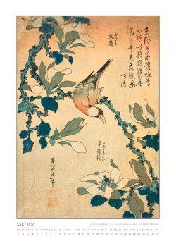 """Maiblatt zum Kalender """"DIe Eleganz der Vögel in historischen japanischen Holzschnitten"""""""