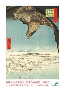 """Kunstkalender. Titelblatt zum Kalender """"DIe Eleganz der Vögel in historischen japanischen Holzschnitten"""""""