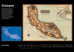 Inseln der Karibik – Bildkalender mit historischen Karten und modernen fotos aus Weltall, Ausgabe 2020. Curaçao, Curacao