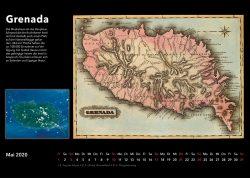 Inseln der Karibik – Bildkalender mit historischen Karten und modernen fotos aus Weltall, Ausgabe 2020. Grenada
