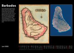 Inseln der Karibik – Bildkalender mit historischen Karten und modernen fotos aus Weltall, Ausgabe 2020. Barbados