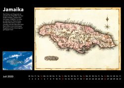 Inseln der Karibik – Bildkalender mit historischen Karten und modernen fotos aus Weltall, Ausgabe 2020. Jamaika, Jamaica