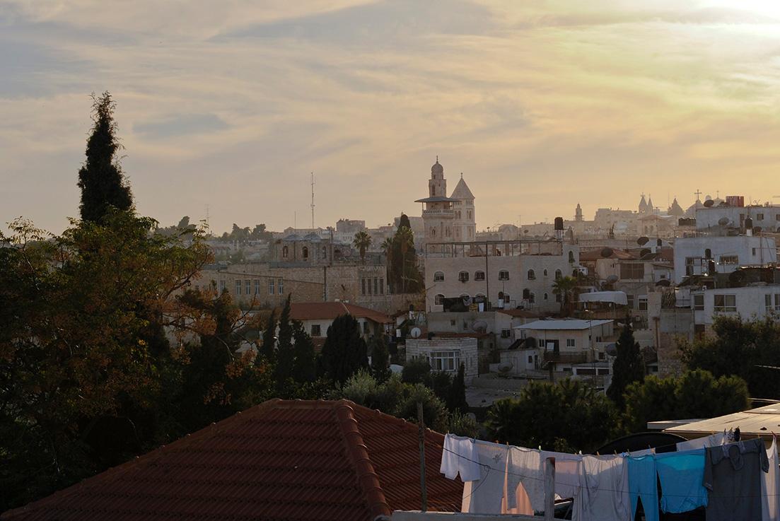 Altstadt von Jerusalem im Abendlicht
