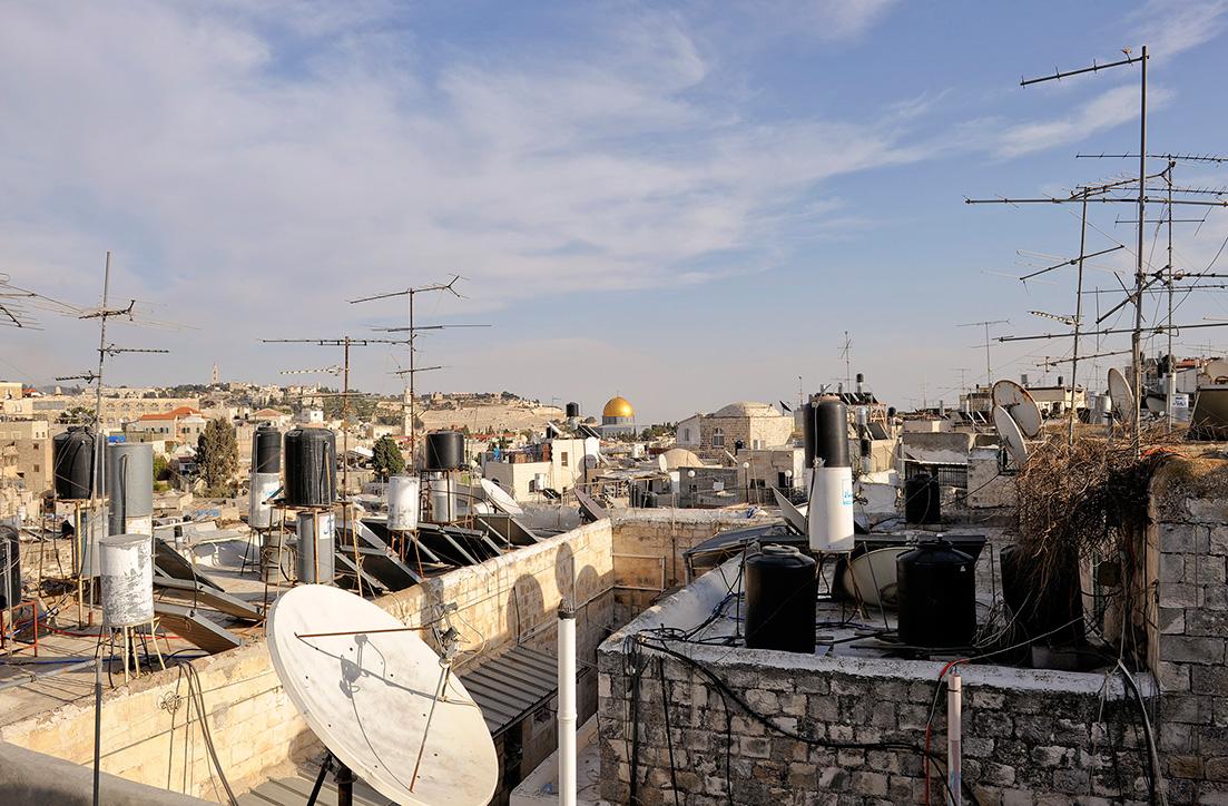 Dachlandschaft von Jerusalem