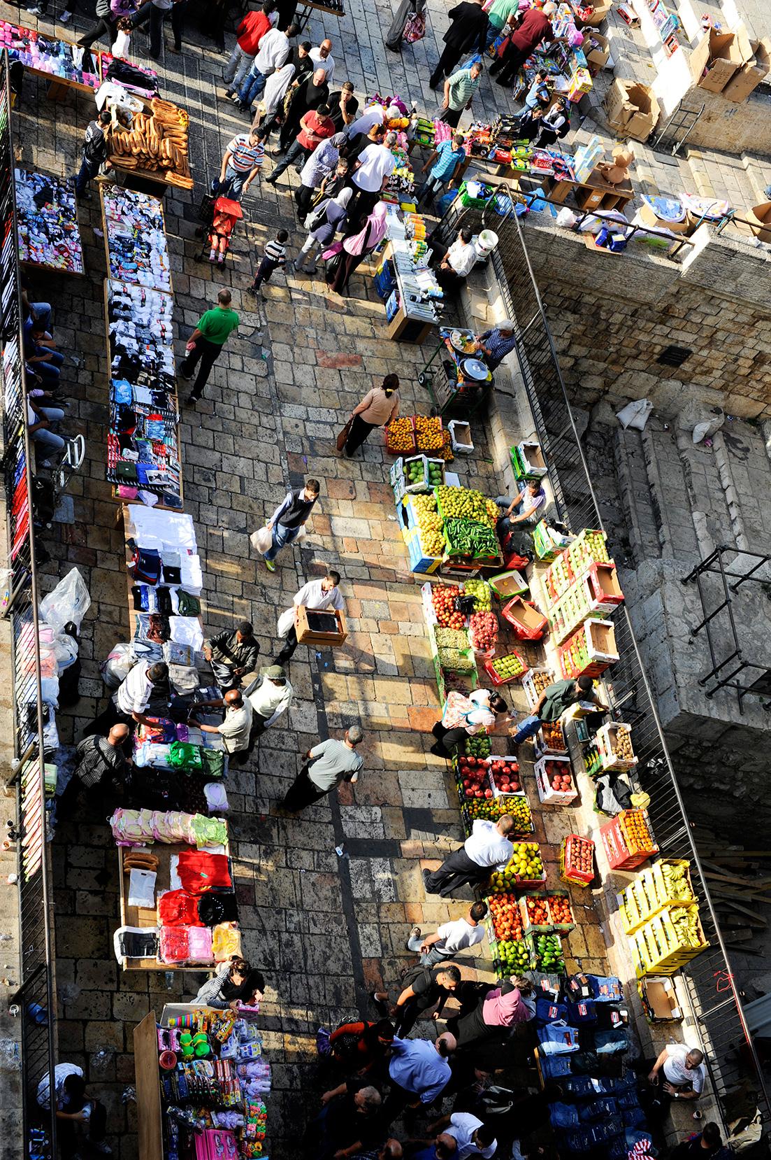 Straßenmarkt vor dem Damaskustor in Jerusalem