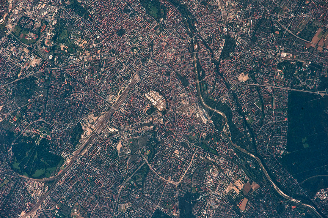 NASA-Foto der Theresienwiese München