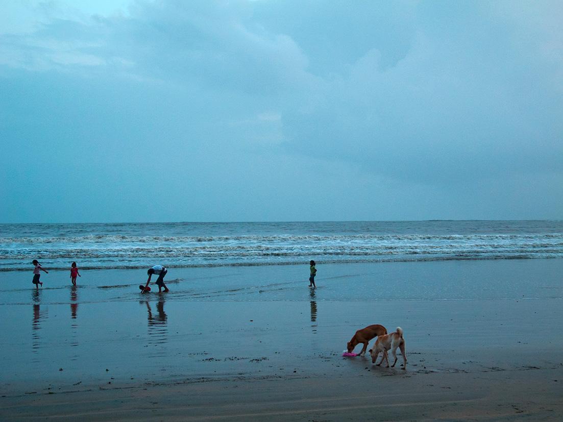 Abenstimmung am Strand von Palolem, Goa