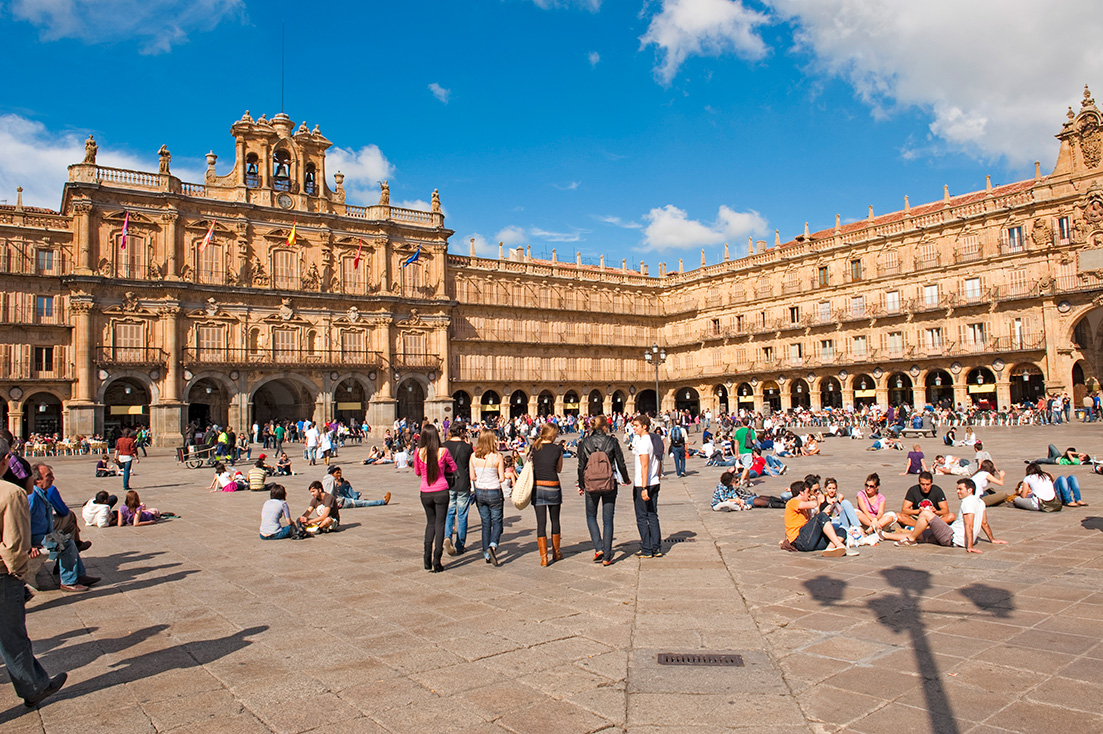 Plaza Mayor in Salamanca, Spanien