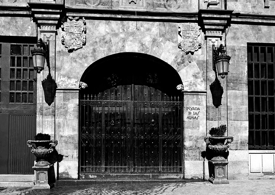 Eingang zu Posada de las almas, Salamanca, Sapnien