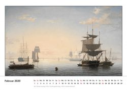 Schiff im Hafen von Boston, Gemälde