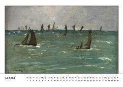 Segelboote auf dem Meer, von Eduard Manet