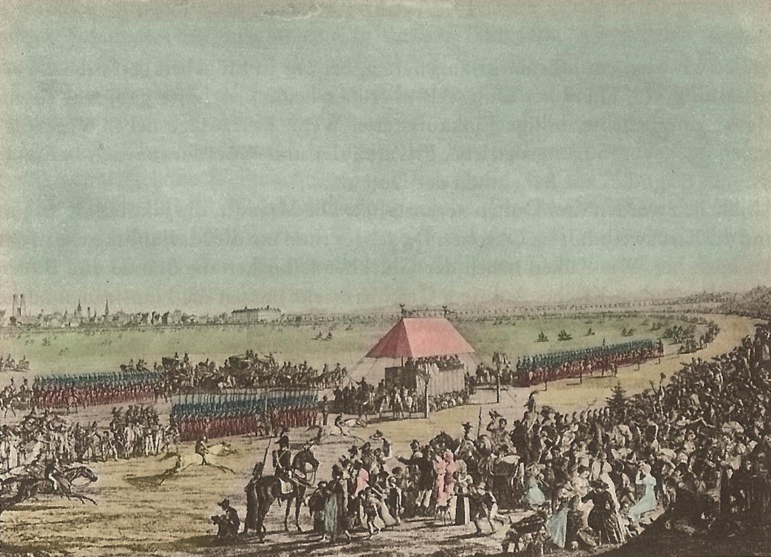 Pferderennen auf der Theresienwiese, 1870