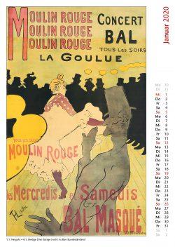 Januarblatt im Bildkalender Die Plakatkunst Des Henri de Toulouse Lautrec