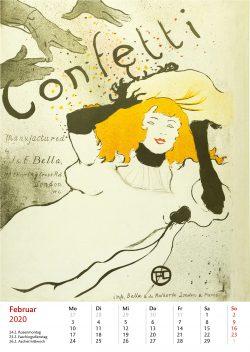 Februarblatt im Bildkalender Die Plakatkunst Des Henri de Toulouse Lautrec