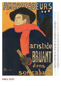 Märzblatt im Bildkalender Die Plakatkunst Des Henri de Toulouse Lautrec