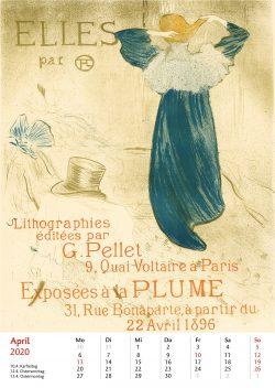 Aprilblatt im Bildkalender Die Plakatkunst Des Henri de Toulouse Lautrec