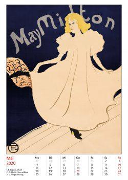 Maiblatt im Bildkalender Die Plakatkunst Des Henri de Toulouse Lautrec