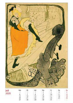 Juliblatt im Bildkalender Die Plakatkunst Des Henri de Toulouse Lautrec
