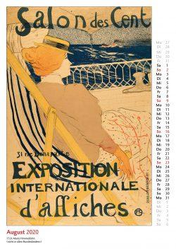 Augustblatt im Bildkalender Die Plakatkunst Des Henri de Toulouse Lautrec