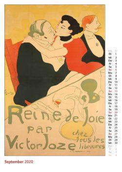 Septemberblatt im Bildkalender Die Plakatkunst Des Henri de Toulouse Lautrec
