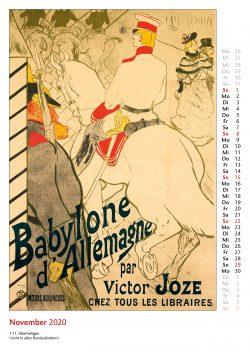 Novemberblatt im Bildkalender Die Plakatkunst Des Henri de Toulouse Lautrec