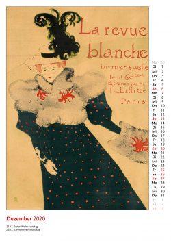 Dezemberblatt im Bildkalender Die Plakatkunst Des Henri de Toulouse Lautrec