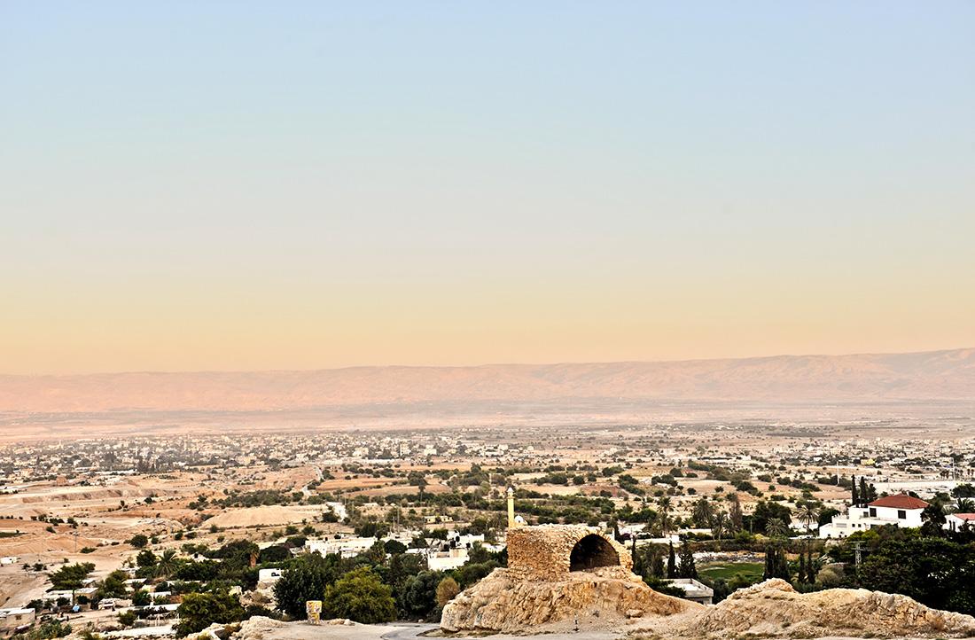 Blick über Jericho, Westjordanland