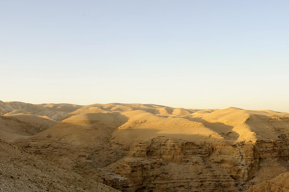 Wüstenlandschaft im Wadi el Qelt, Jericho